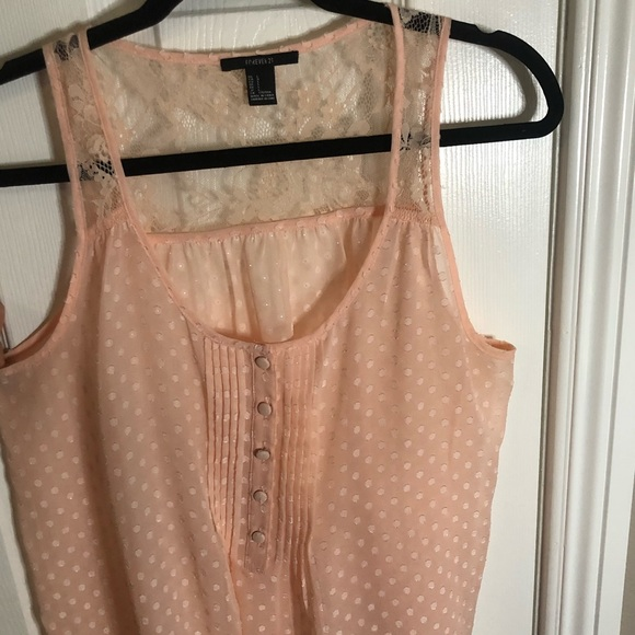 Forever 21 Tops - Pink Dotted Tank Top